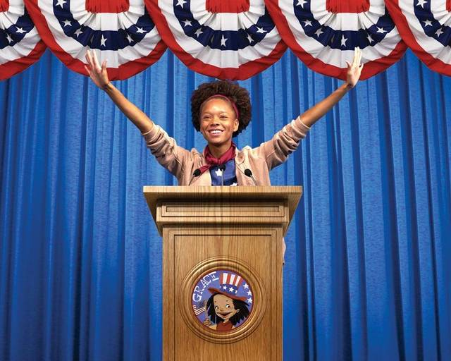 "Grace (Talia Robinson) decides she'd like to represent her third-grade class in ""Grace for President"" at Children's Theatre of Charlotte."